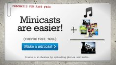 Podomatic is an excellent site for creating podcasts and add audio via iTunes.