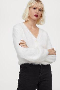 Feinstrick-Cardigan - Weiß - Ladies | H&M DE