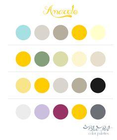 Color Palettes - Yellow  Paleta de cores - Amarelo