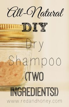 2 Ingredients All-Natural Dry Shampoo ........ 1/2 cup arrowroot powder, 1 tablespoon cocoa powder (adjust according to hair color) ...........Mix. Apply small amounts. Comb and tussle hair.
