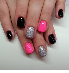 Looking for easy nail art ideas for short nails? Look no further here are are quick and easy nail art ideas for short nails. nails near me salon nails nails salon nails Continue Reading → Classy Nails, Fancy Nails, Trendy Nails, Diy Nails, Cute Nails, Black Shellac Nails, Pink Black Nails, Pink Gel Nails, Color Nails