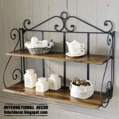 Wrought Iron Kitchen Accessories Shelves Forged Furniture Designs For