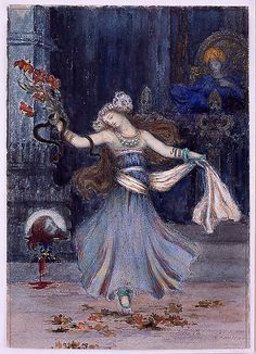 Salomé Dancing Before the Head of St. John the Baptist- Gustave Moreau  (French, Paris 1826–1898 Paris)
