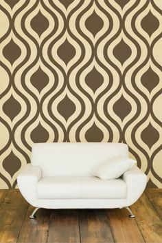 Ogee Wall Decal Geometric Mid Century Modern by WallStarGraphics Wall Decal Pattern, Home Decor Wall Art, Mid Century Modern Patterns, Modern Wall Decor, Wall Patterns, Mid Century Modern Wall Decor, Geometric Wall, Geometric Wall Decor, Modern Wall