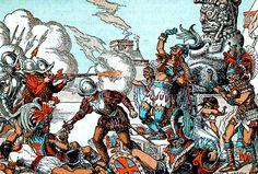 "La Pintura y la Guerra  ""Spanish and Aztecs""  Donn Philip Crane"