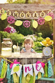 Lemon High Chair Banner – Lemon Banner – Lemonade High Chair Banner – Lemonade Birthday Party – Pink Lemonade Party – Lemonade Birthday MMMMM… I can taste the lemonade! Our sweet lemonade high chair banner and garland will make your party extra SWEET! 1st Birthday Party Themes, Birthday Photos, Birthday Ideas, Spring Party Themes, Birthday Gifts, Pink Lemonade Party, Pink Lemonade Cupcakes, Lemon Party, Baby Girl First Birthday
