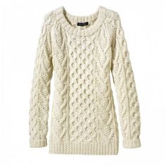 pullover cabled sweater