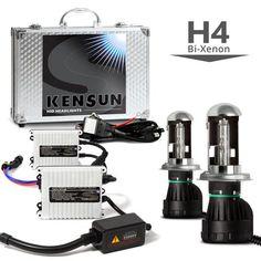 55W HID H4 (HB2) (9003) Dual Beam Bi-Xenon Conversion Kit with Slim Digital Ballasts