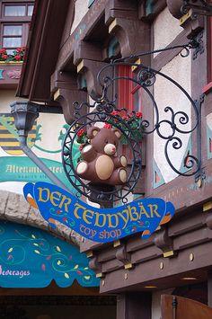 Der Teddybar - toy shop in Germany Pavilion at Disney World