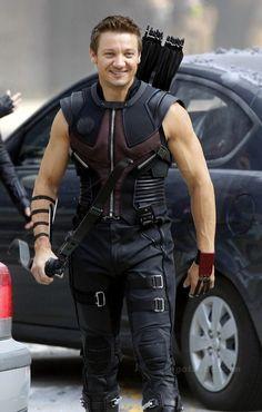 Jeremy Renner as Clint Barton/Hawkeye.