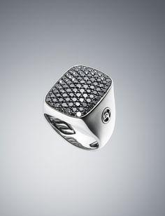 David Yurman - Black Diamond Albion Ring $ 2,250