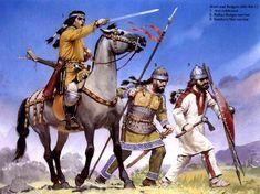 1.Avar 2. Bulgarian 3. Slav