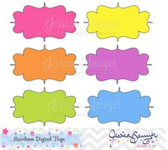 Rainbow digital tags, digital labels, for commercial use, personal use
