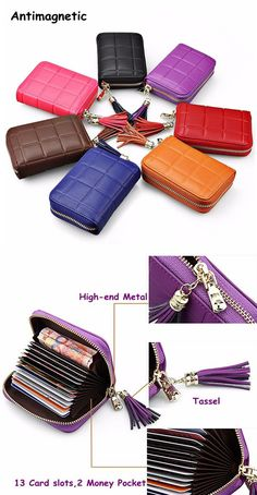 RFID Antimagnetic Genuine Leather Cowhide 13 card slots Tassel Card Holder For Women Men sales at a good price. Come to Newchic to buy a wallet, more cheap women wallets are provided online. Leather Craft, Leather Bag, Book Purse, What In My Bag, Things To Buy, Stuff To Buy, Leather Working, Small Bags, Wallets For Women