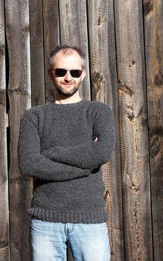 DIY Knitted Mens Sweater Pullover für Herren selber stricken