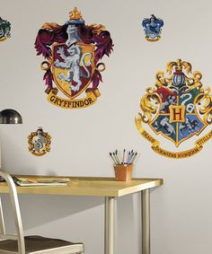 Another great find on #zulily! Harry Potter Crest Wall Decal Set #zulilyfinds