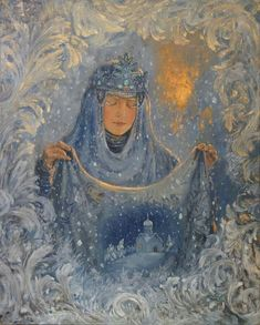 ~ Vladimir Kireev, The veil (Intercession), 2015, Oil on canvas https://vladimir-kireev.deviantart.com/ http://vl-kireev.livejournal.com/