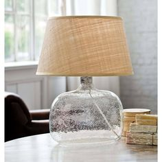 Seeded Oval Glass Table Lamp | Regina Andrew Detroit
