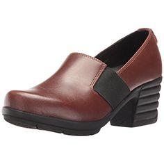 Sanita Womens Icon-Executive Leather Slip On Loafer Heels