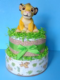 Lion King Diaper Cake  Disney Diaper Cake by PamperedBabyCreation, $50.00