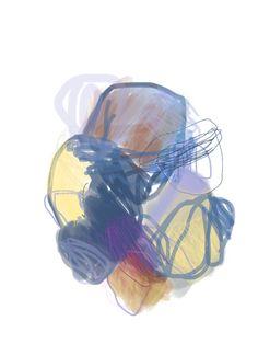 Digital abstract painting Olivier Umecker