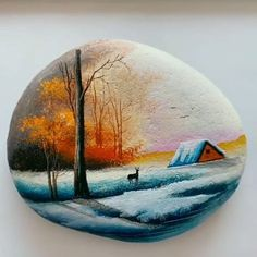 Great art by (Douyin)/ painting on stone Great art by ID: 1159505892 (douyin) / malerei auf stein This image. Pebble Painting, Pebble Art, Stone Painting, Rock Painting Designs, Acrylic Art, Rock Art, Creative Art, Painted Rocks, Amazing Art