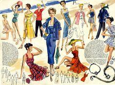 St Tropez Fashions - Modes et Travaux June 1950