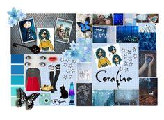 Coraline OC: Riley Jones by silentdoll on Polyvore featuring polyvore TIBI Leg Avenue Ines de la Fressange Dr. Martens Fujifilm Seed Design GET LOST fashion style clothing