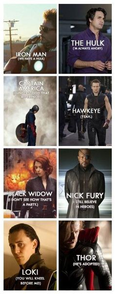 Great Avengers Quotes