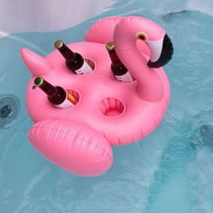 4 Hole Inflatable Pink Flamingo Cup Holder Pool Float Coasters Cola Beverage For Adults Children Beach Water Toy Piscina Pool Floats, Graduation Party Decor, Water Toys, Top Toys, Pink Flamingos, Beach Party, 1 Piece, Drink Holder, Summer Ideas