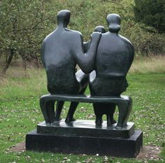 Family sculpture, Henry Moore Foundation, Perry Green, Herts 6th September 2014