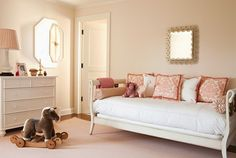 Daybeds can be used to save space in a small room.