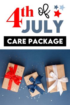 4th of July Gift Idea- free printables to make your own patriotic care package!