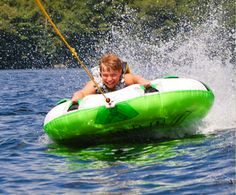 Nothing like a little tubing on the lake to cool off.