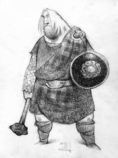 Animation Sketches, Drawing Sketches, Art Drawings, Cute Characters, Cartoon Characters, Merida, Brave, Visual Development, Digital Illustration