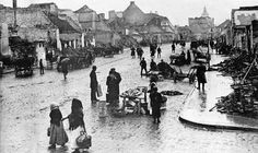 Ortelsburg, East Prussia - burned by the Russians in 1914.  Ullstein, Berlin