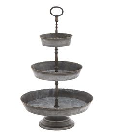 Galvanized Metal Tiered Tray
