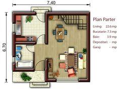 Proiecte de case mici cu mansarda. Locuinte de vis, fara risipa de bani Euro Model, Design Case, Modern Farmhouse, Tiny House, House Plans, Shed, Floor Plans, House Design, How To Plan