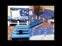 Muebles de diseño con palets - YouTube