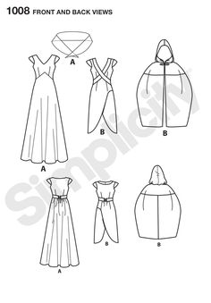 S1008 Misses' Fantasy Costumes