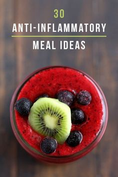 A berry and kiwi smoothie that is full of vitamin C and antioxidants to help keep you healthy! This Gluten-Free Immunity Boosting Triple Berry Kiwi Smoothie with just five ingredients is full of fruit and delicious. Breakfast Smoothies, Healthy Smoothies, Healthy Drinks, Smoothie Recipes, Healthy Snacks, Diet Drinks, Vegetarian Smoothies, Beverages, Making Smoothies