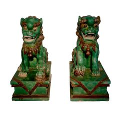 Pair of Ming Fu Dogs