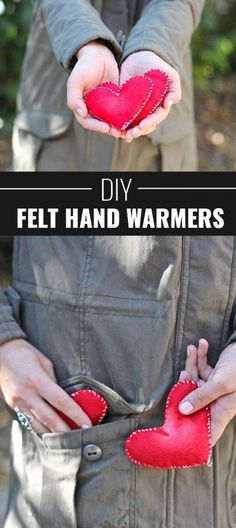 Cool DIY  Stocking Stuffer Ideas for Kids, Adults and Teens | Easy DIY Crafts Ideas for Christmas Gifts |   DIY Felt Hand Warmers