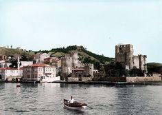 1900 başlarında Anadoluhisarı. (renklendirilmiş fotoğraf )