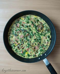 Spinach, Ham and Mushroom Frittata Blog — Krystle's Corner