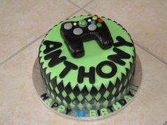 X-box themed Birthday Cake Cake Decorating Roses, Birthday Cake Decorating, Bithday Cake, Themed Birthday Cakes, Cake Icing, Cupcake Cakes, Cake Pops Image, Xbox Cake, Thomas Cakes