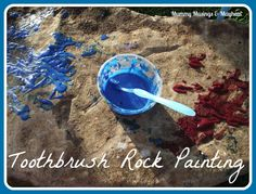 Don't throw out those old toothbrushes...have some fun outdoors scrubbing the rocks & exploring the garden! A fun sensory activity for all ages!