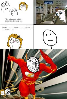 Rage Comics: Kid at airport flash Stupid Funny, Haha Funny, Hilarious, Funny Stuff, Funny Things, Random Stuff, Funny Relatable Memes, Funny Posts, Funny Quotes