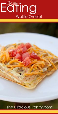 Make a big batch, freeze them and pop them in the toaster as needed. It's an omelet on the go!
