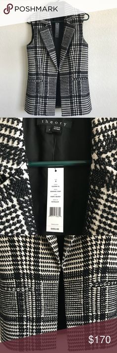 NWT Theory Eldora graphic coat NWT Theory Eldora graphic coat. Excellent/new condition. Perfect for winter and spring! Theory Jackets & Coats